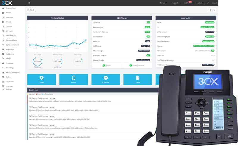 3cx solution telephonique